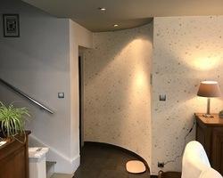 Plafond peinture argile - murs papier décoratif - Remiremont - Robin et fils