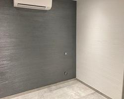 Décor chaux griffé horizontal duo blanc / gris métal - Remiremont - Robin et fils