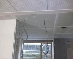 Plafond placo raccordé sur plafond acoustique - Remiremont - Robin et fils